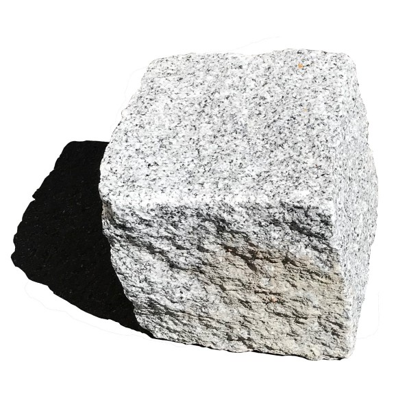 KNKE Granitpflaster MK hellgrau 15/17 cm in Holzkisten