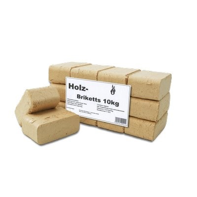 Holzbriketts RUF eckig 10kg Aktionsware Folienverpackt