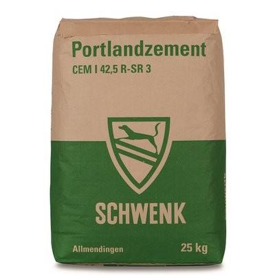 Schwenk Portlandzement chromatarm CEM I 42.5 R-SR 3 - 25kg Braun/Grün