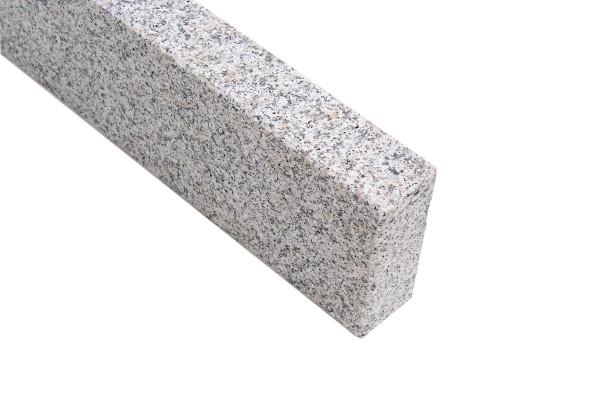Granit Randstein G603 JM-X 8x30x100 Grau OF gesägt + geflammt Kanten gefast