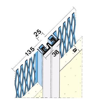Maisch Dehnungsfugenprofil 20mm 3.0m 03208 300,0 10 - Aussen