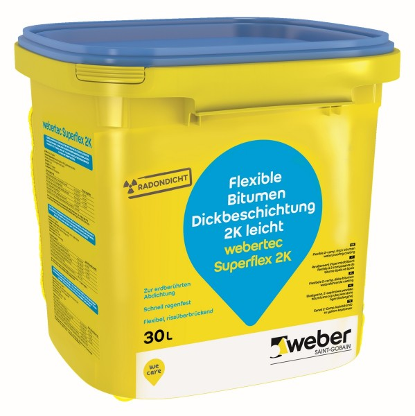 SGW weber.tec Superflex 2K 30l Dickbeschichtung Kunststoffgebinde