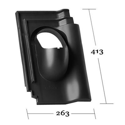 Klöber Venduct® Grundplatte o. Rohr KE0026 f. Flachdachpfanne schwarz