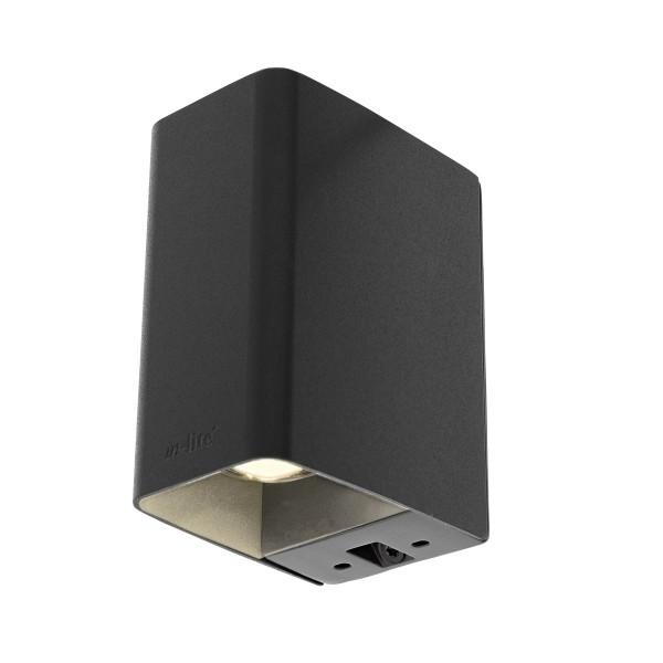 in-lite Wandleuchte LED ACE up-down schwarz 12V 6W dunkel grau warmweiß