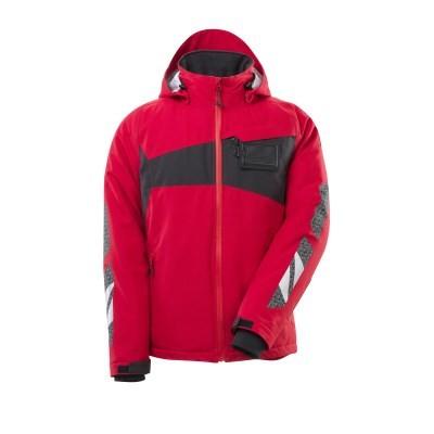MASCOT® Winterjacke Gr. XL m. CLIMASCOT®-Futter verkehrsrot/schwarz