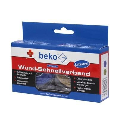 Beko CareLine Wund-Schnellverband 25mm 2x4.50m Rolle beige/blau