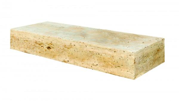 Lagos Travertin Vanilla Color-Mix beige gem. Blockstufe L/B/H 100/35/15 cm