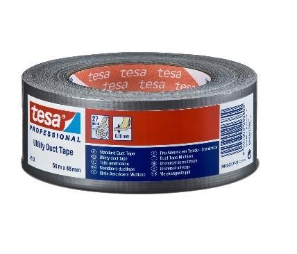 tesa® duct tape Gewebeband 50mx48mm 34 Silber-Matt - 4613