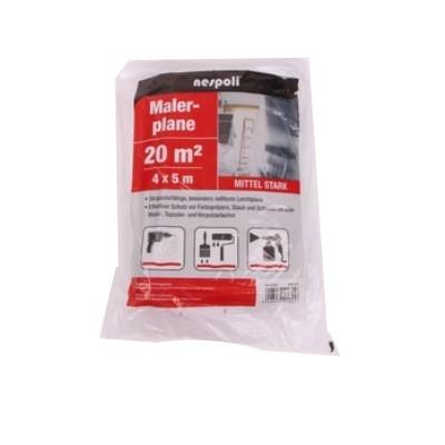 Maler-Abdeckfolie mittelstark 4x5m transluzent ca. 30my LDPE
