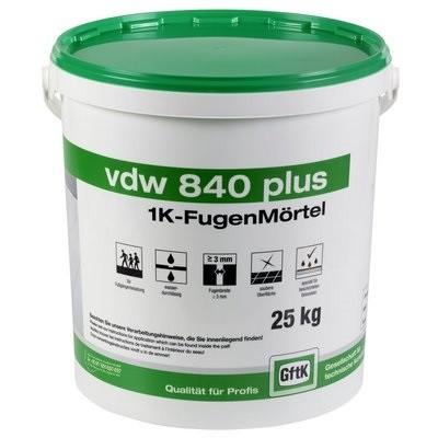 GftK VDW 840 plus 1K Fugenmörtel steingr ab 3mm Fuge Eimer 25kg