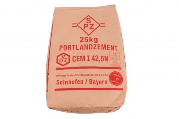 Solnhofer Portlandzement CEM I 42.5 N 25kg chromatarm Normalzement