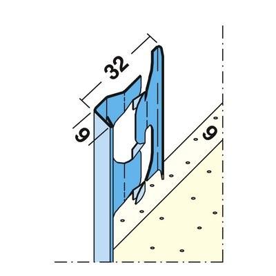 Maisch Putzabschlussprofil 9mm 2.5m 01211 250,0 - Innen