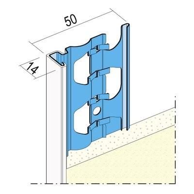 Maisch Putzabschlussprofil 14mm 3.0m 01223 300,0 10 - Aussen PVC-Kante
