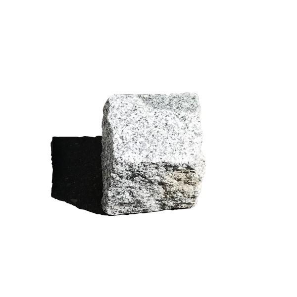 KNKE Granitpflaster MK hellgrau 8/11 cm in Holzkisten