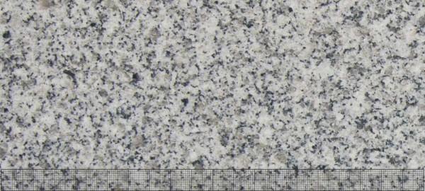 Delta Granit Bodenpl. G603 JM 90x90x3 OF geb. ges. gefl. Kanten gefa. hellgrau