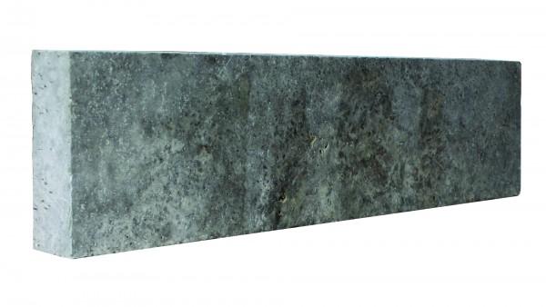 Lagos Travertin Silver silbergrau Leistenstein 100/25/8 cm