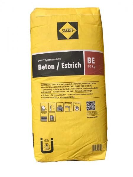 Sakret Beton-Estrich BE 0-8mm 30kg-Sack Beton C25/30, Estrich CT-35-F5, ca 15l