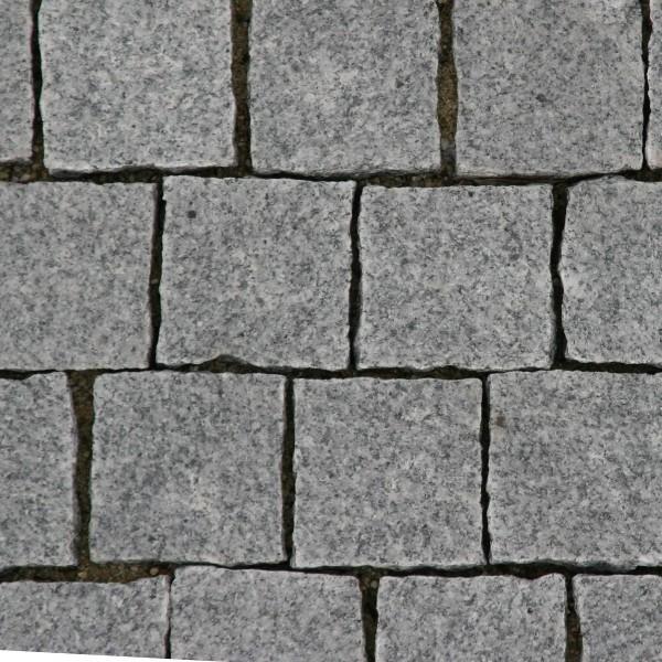 Delta Granit Pflaster G654 9x9x8 m. Fuge OF ges. gefl. Seit. gesp. anthr.