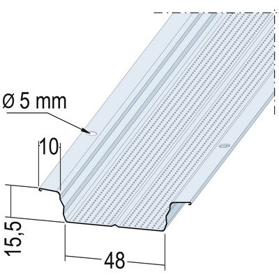 Maisch Hut-Deckenprofil vz 48mm 4.0m 05114 400,0