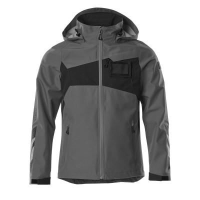 MASCOT® Hard Shell Jacke Gr. XL wasserdicht dunkelanthrazit/schwarz