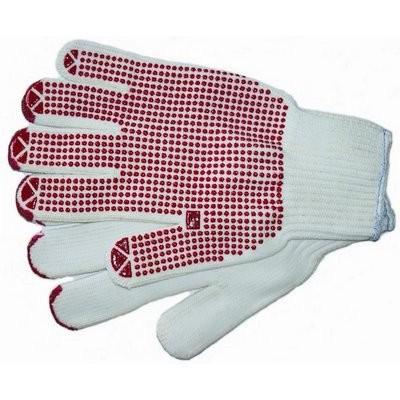 Strickhandschuh rot genoppt Gr.XL five fingers