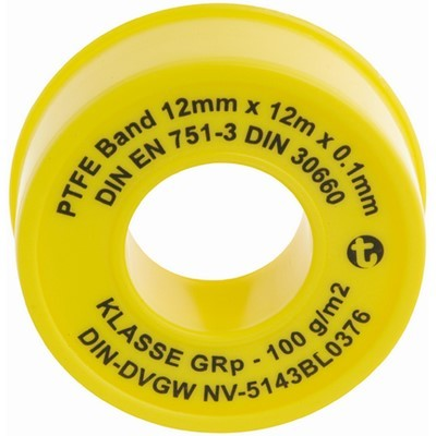 PTFE-Dichtbandrollen 12mx12mmx 0.1mm 121201SB