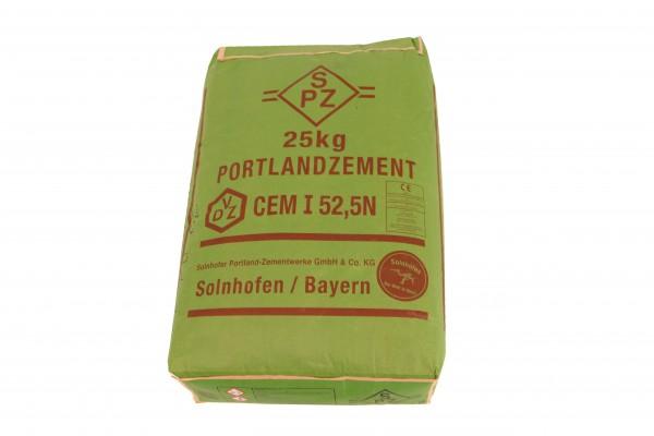 Solnhofer Portlandzement CEM I 52.5 N 25kg chromatarm Hochwertzement